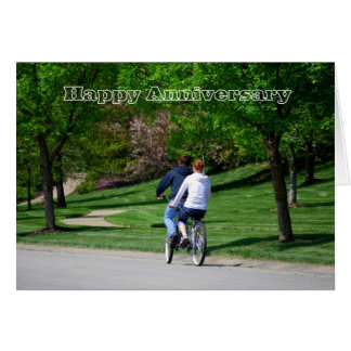 Tandem Bicycle Happy Anniversary Card