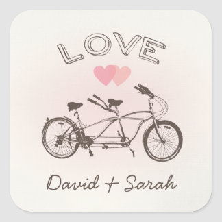 Tandem Bicycle Love Sticker