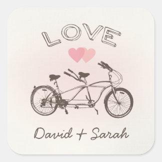 Tandem Bicycle Love Sticker