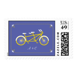 Tandem Bicycle Modern Wedding Purple Save the Date