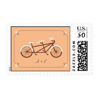 Tandem Bicycle Modern Wedding Save the Date Postage