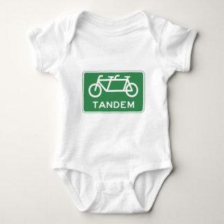 Tandem Bicycle Sign Baby Bodysuit