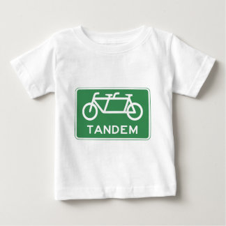 Tandem Bicycle Sign Baby T-Shirt
