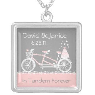 Tandem Bicycle Wedding Keepsake Necklace