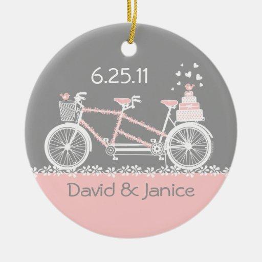 Tandem Bicycle Wedding Keepsake Ornament