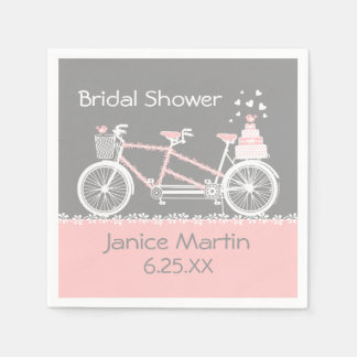 Tandem Bicycle Wedding Standard Cocktail Napkin
