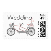 Tandem Bicycle Wedding Postage