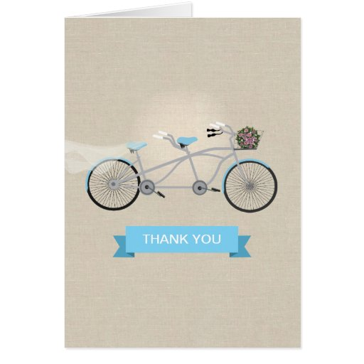 Tandem Bicycle Wedding Thank You Cards