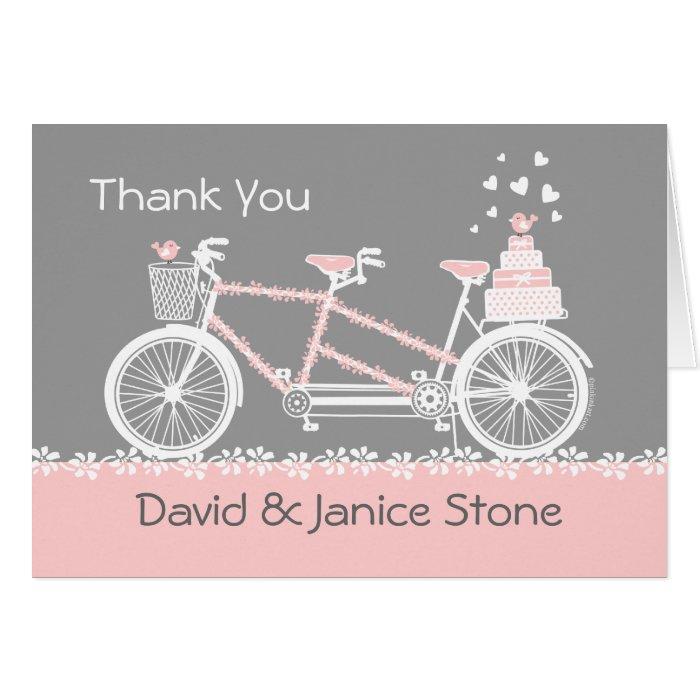 Tandem Bicycle Wedding Thank You Card