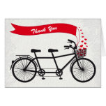 Tandem Bicycle Wedding Thank You Card
