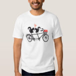 tandem bicycle with squirrels tee shirts