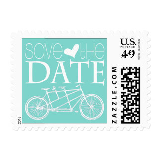 Tandem Bicycles | Save the Date Postage Stamp