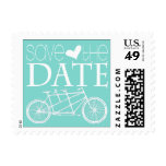 Tandem Bicycles | Save the Date Postage Stamps