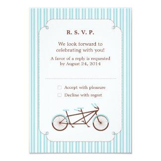 Tandem Bike (Blue Stripes) RSVP Card