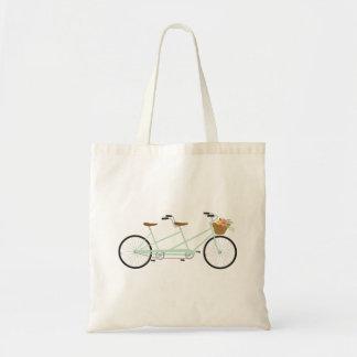 Tandem Bike Budget Tote Bag