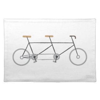 Tandem Bike Cloth Placemat