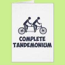 Tandem Bike Complete Tandemonium Card