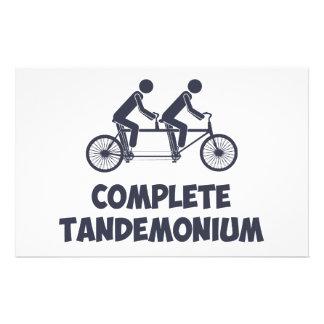 Tandem Bike Complete Tandemonium Stationery
