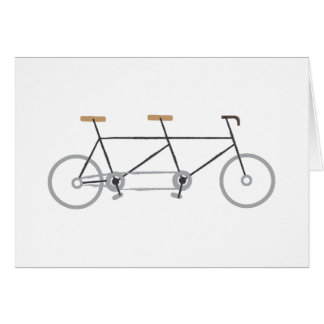 Tandem Bike Greeting Card