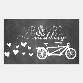 Tandem Bike Love Chalkboard Heart Sticker
