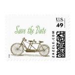 Tandem Bike Save the Date Postage