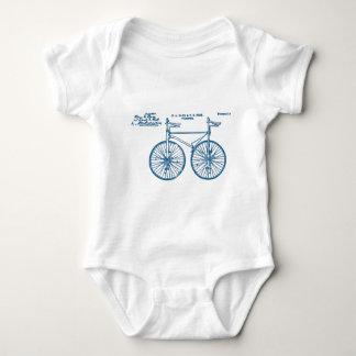 Tandem Bike Velocipede 1891 Peck Baby Bodysuit