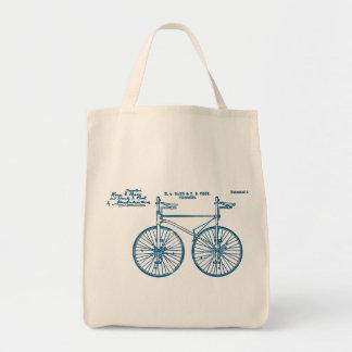 Tandem Bike Velocipede 1891 Peck Grocery Tote Bag