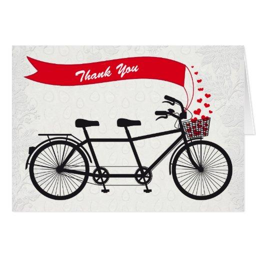 Tandem Bike Wedding Thank You Card