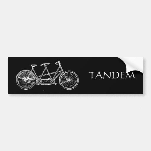 TANDEM CAR BUMPER STICKER