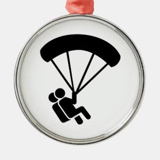 Tándem de Skydiving Adorno Navideño Redondo De Metal