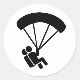 Tándem de Skydiving Pegatina Redonda