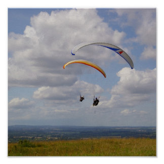 Tandem Gliding Poster