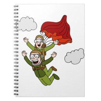 Tandem Sky Diving Spiral Notebook