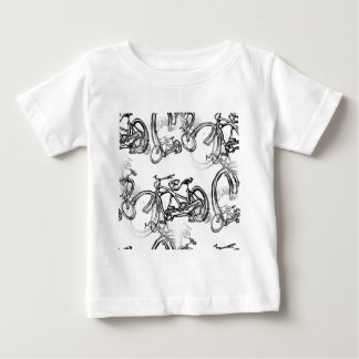 Tandem (Two Seater) Vintage Bicycle Baby T-Shirt
