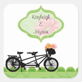 Tandum Bike Envelope Seals or Favor Labels