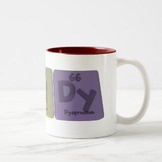 Tandy as Tantalum Nitrogen Dysprosium Two-Tone Coffee Mug