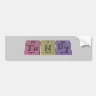 Tandy como Dysprosium del nitrógeno del tantalio Etiqueta De Parachoque