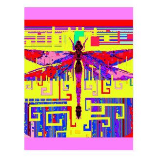 Tang Dragonfly Art Gifts by Sharles Postcard