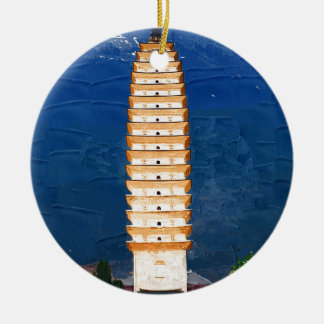 Tang Dynasty Tower in Yunnan, Dali Ceramic Ornament