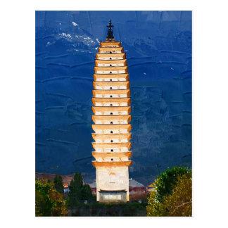 Tang Dynasty Tower in Yunnan, Dali Postcard