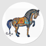 Tang Horse Round Sticker