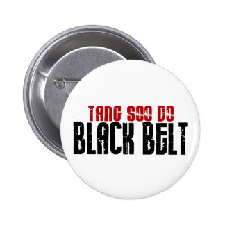 Tang Soo Do Black Belt Karate 2 Inch Round Button