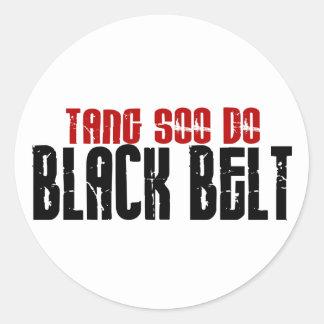 Tang Soo Do Black Belt Karate Classic Round Sticker