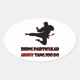 Tang Soo Do   Designs Oval Sticker