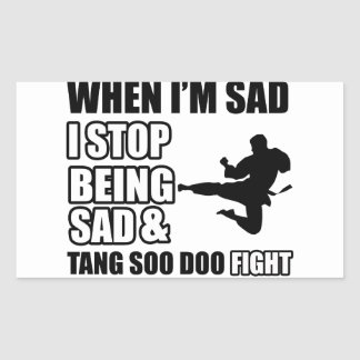 tang soo do Designs Rectangular Sticker