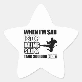 tang soo do Designs Star Sticker