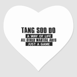 Tang Soo Do gifts Heart Sticker