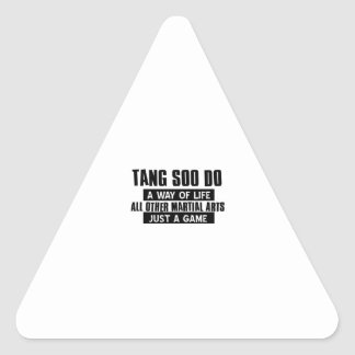 Tang Soo Do gifts Triangle Sticker