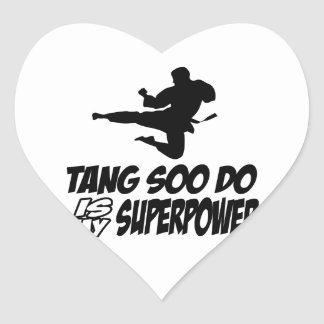 tang soo do is my superpower heart sticker