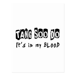 Tang Soo Do It's in my blood Post Cards